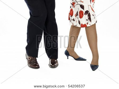 Couple Dancing Salsa