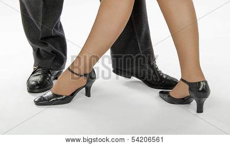 Elegant Couple In Dance Position