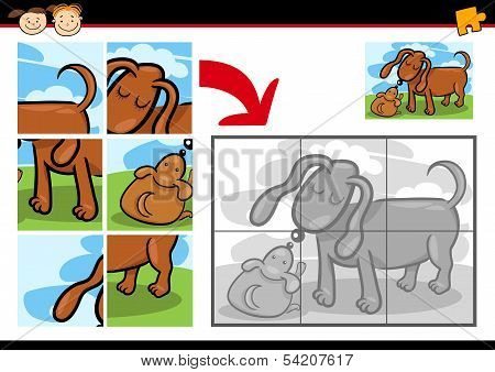 Cartoon Puppy Jigsaw Puzzle Game