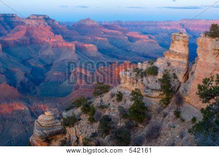 Grand Canyon Np At Sunset