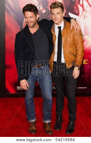 LOS ANGELES, CA - NOVEMBER 18: Television personality Nate Berkus arrives at the premiere of The Hunger Games: Catching Fire at the Nokia Theater in Los Angeles, CA on November 18, 2013