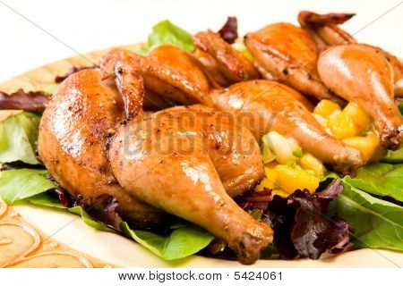 Cornish Hen Serving Platter