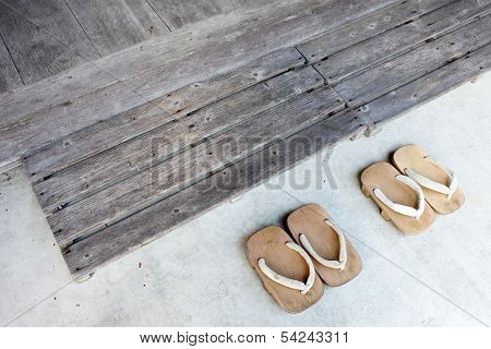 Japanese wooden sandals