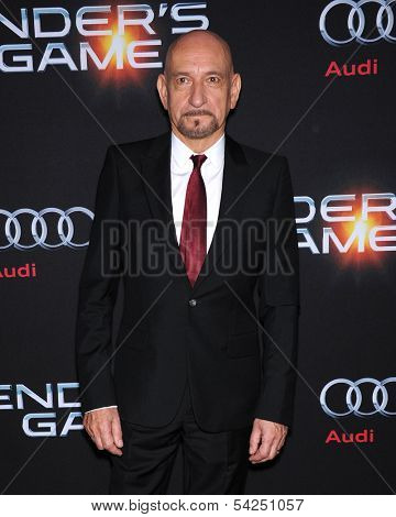LOS ANGELES - OCT 28:  Sir Ben Kingsley arrives to