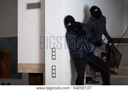 Two Gangsters Being Afraid Of Police