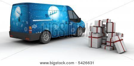 Christmas Delivery Van