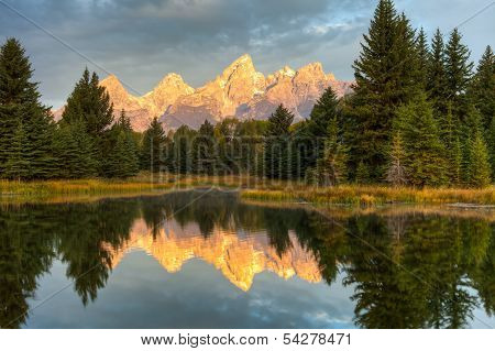 Grand Teton Peaks Reflection