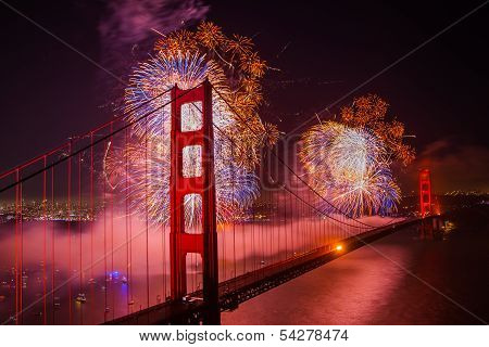 Golden Gate Bridge 75th Birthday Fireworks