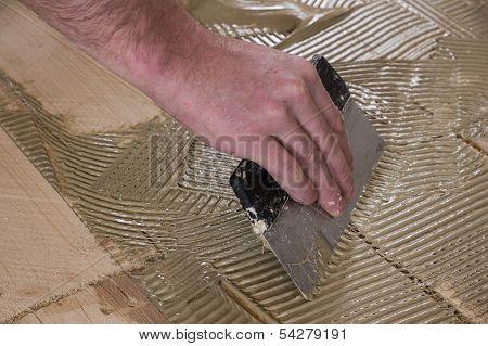 Application parquet adhesives.