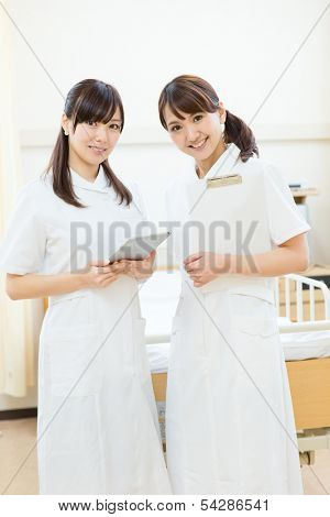 Beautiful asian hospital staff