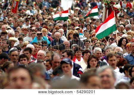 Hungarian catholic pilgrimage in Csiksomlyo (Sumuleu Ciuc), Romania