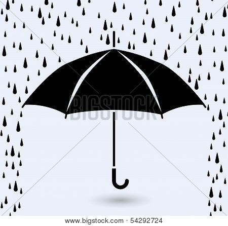 Vector Symbol Of Umbrella Protection From Rain