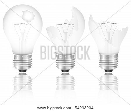 Broken Light Bulbs Set