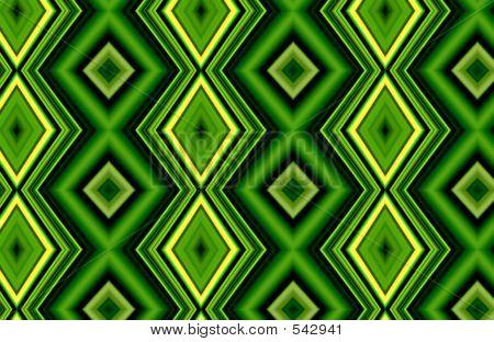 Geometric  Green Diamonds