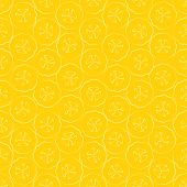 Seamless pattern slice of banana - vector illustration poster