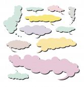 Collection of Various comic clouds with a big long shape - Set 4 poster