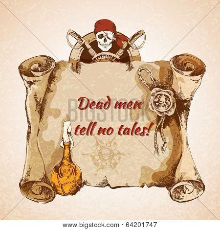 Vintage pirates background
