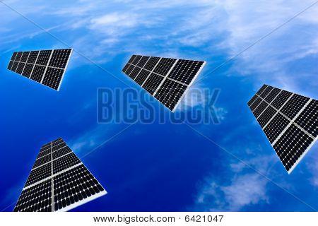 Solar Panels In The Sky