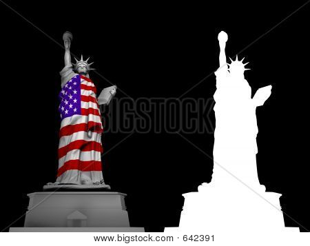 Liberty Statue With Alpha Channel