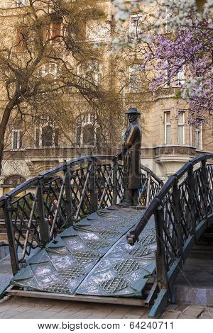 Budapest, Hungary. Monument to Imre Nagy . Imre Nagy in 1956 moved to the side of the people who rebelled against the Soviets poster