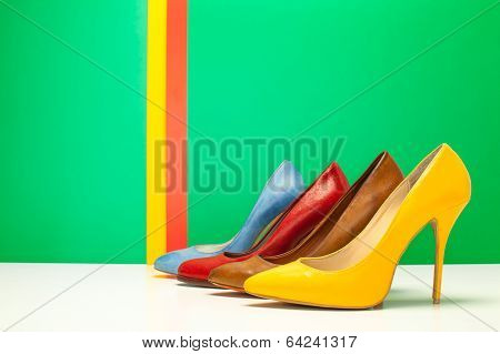 Different Color Of High Heels