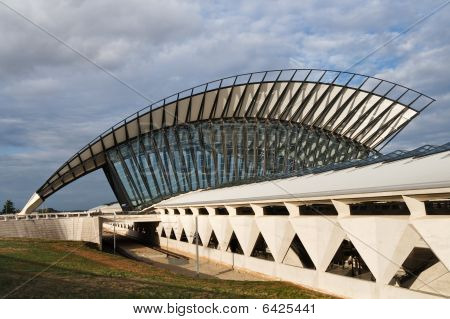 Train Station At Saint-Exupery Airport, Lyon, France
