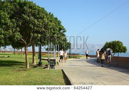 Antonio Raimondi Park in Miraflores, Lima, Peru
