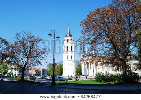 The Cathedral Place In Vilnius City On April 26, 2014