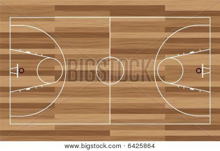 Wood Basketball Court