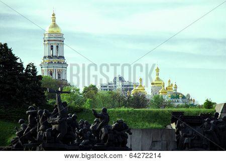The Second World War and Orthodox Church Kyiv, dome, cupolas, Kiev-Pechersk Lavra