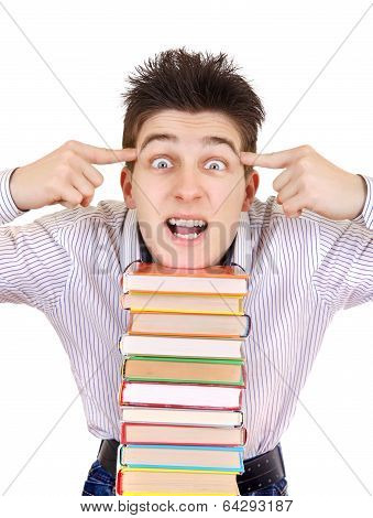 Excited Student With The Books