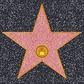 Hollywood Walk of Fame - Television receiver representing broadcast television poster