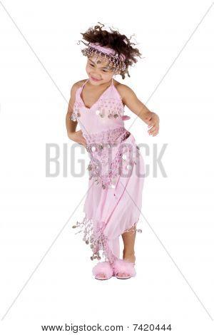 Cute Girl In Belly Dancer Dress