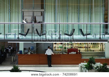 Contemporary Hotel Bar And Lobby