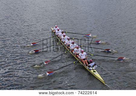 US Rowing races in the Head of Charles Regatta Men's Championship Eights