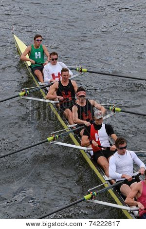 Harvard University races in the Head of Charles Regatta Men's Championship Eights