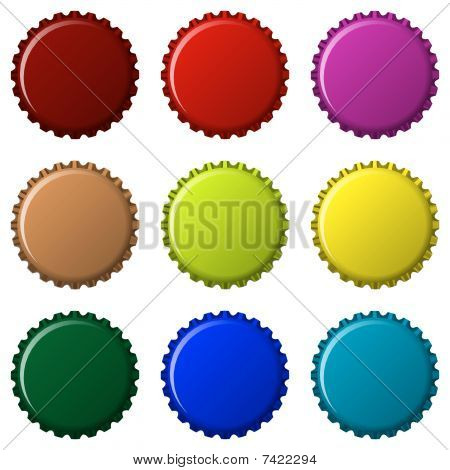 Bottle Caps In Colors