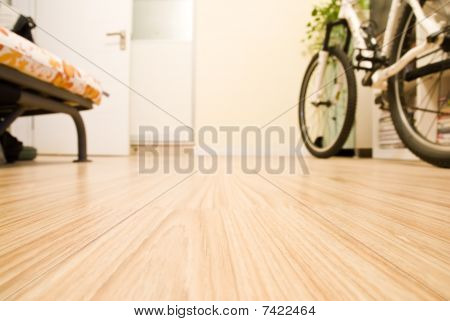 Abstract Home Interior - Domestic Room with a Bicycle