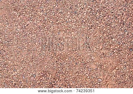 Stony Surface Of Terracotta Color