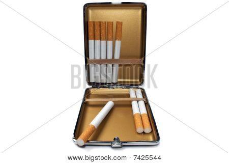 Cigarette Case And Cigarettes