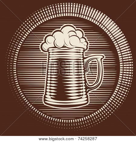Vector beer glass