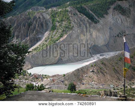 Glacier Lake Near Manang, Annapurna Himalayas