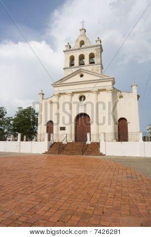 Old Church With Three Bells In Santa Clara City (v)