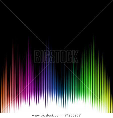 Sound Equalizer Wave Abstract Background. Vector illustration poster