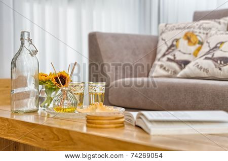 Part Of Luxury Modern Living Room  Shallow Focus