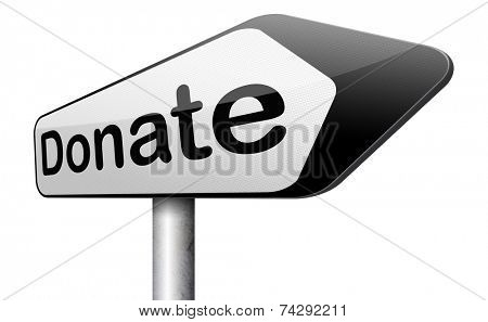 charity gift give a donation and donate and support foundation