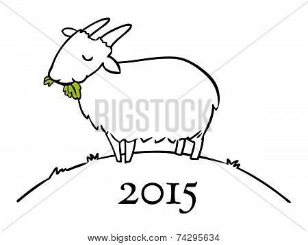 Year Of The Goat Doodle for 2015