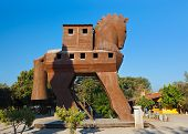 Trojan Horse at Troy Turkey - travel background poster