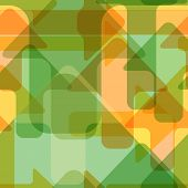 Moving colorful transparent arrows seamless vector pattern. poster