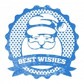 Stamp of Santa Claus with best wishes for Christmas poster